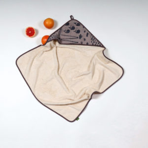 HOODED BATH TOWEL SUNNY GREY