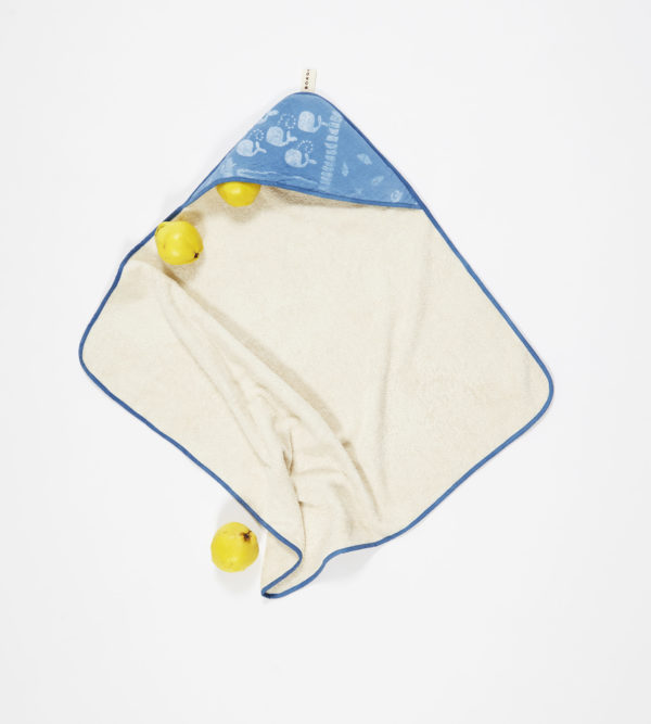 BORO*MINI HOODED BATH TOWEL INDIGO BLUE