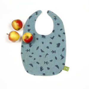 BORO*MINI BABY BIB TEAL GREEN