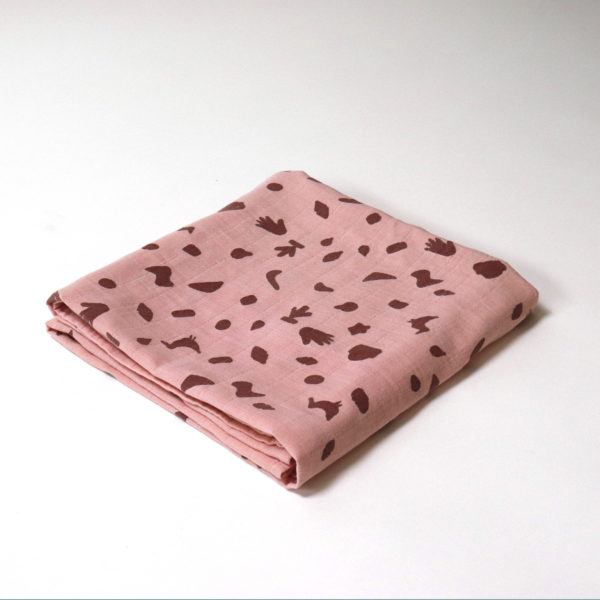 BORO*MINI SWADDLE MADDER PINK SMALL PRINT