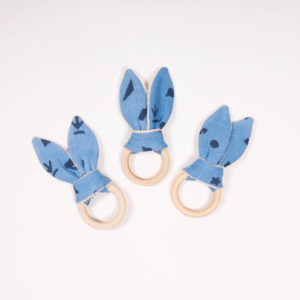 TEETHING RING INDIGO BLUE-INDIGO-PRINT