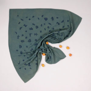 BORO*MINI SWADDLE TEAL GREEN-PRINT