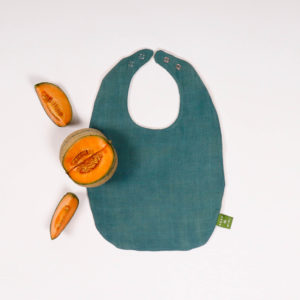 BABY BIB TEAL GREEN